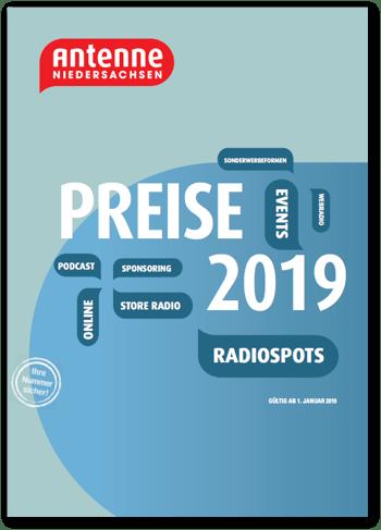 Preisliste Antenne Niedersachsen